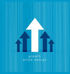 Leading white arrow business growth template vector