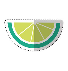 lemon slice isolated icon vector image