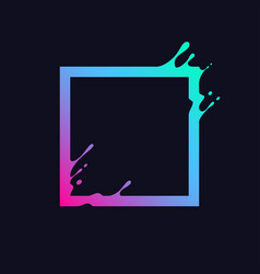 liquid square vector image