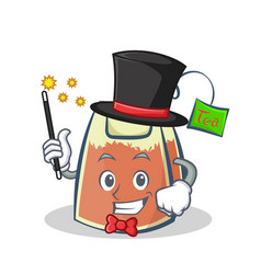 Magician tea bag character cartoon vector