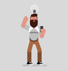 man designer have an idea vector image