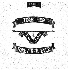 Me and you together vector