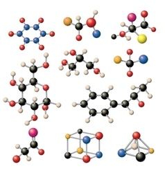 Molecular structure set vector image
