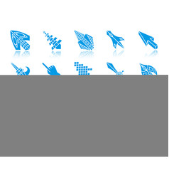 mouse cursor color silhouette icons set vector image