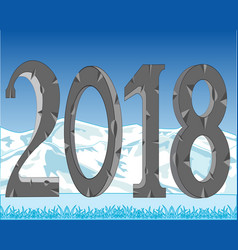 new approaching 2018 vector image