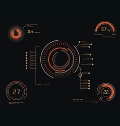 Orange infographics as head-up display vector image