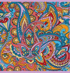 Paisley hand drawing vector