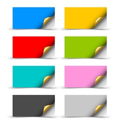 Paper cards vector image