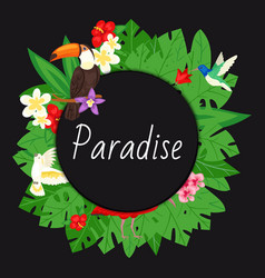paradise background beach design jungle banner vector image