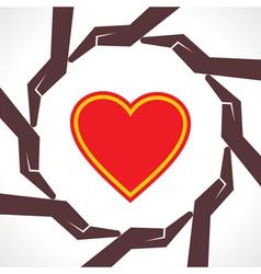 Protect human heart concept vector