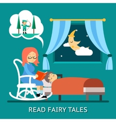 Read fairy tales vector image