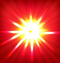 Red Sunburst Poster vector