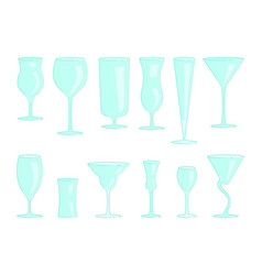 Restaurant drink glasses vector