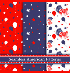 seamless american patterns vector image