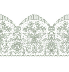 Seamless green lace vector