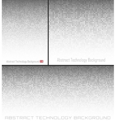 Set abstract gray technology circle background vector