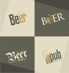 set beer logo design templates vector image