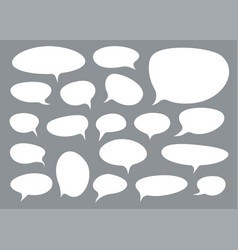 set talk bubbles comix style design element vector image