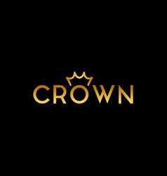 simple and elegant crown logo design template vector image