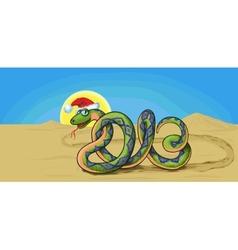 snake symbol 2013 vector image