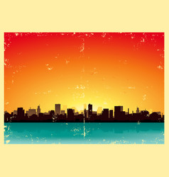 Summer grunge urban landscape vector