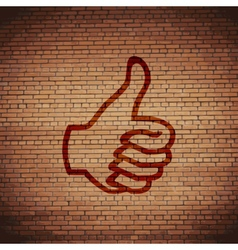 Thumb up icon symbol Flat modern web design with vector image