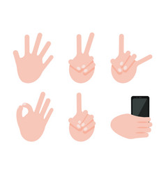 Various gesture collection vector
