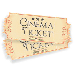 Vintage sinema ticket vector