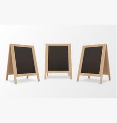 wooden menu chalkboards realistic set bar cafe vector image