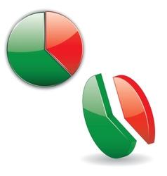 circular chart vector image