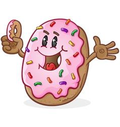 Donut cartoon character vector