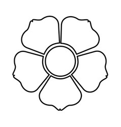 figure flower with squre petals icon vector image vector image