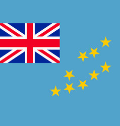 flag of tuvalu vector image vector image