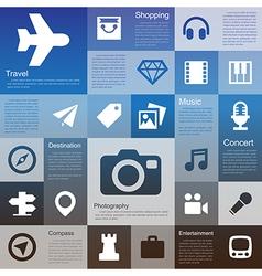 Flat design interface icon set 4 vector image vector image