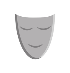 happy mask face carnival icon graphic vector image