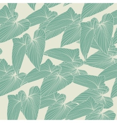 Seamless abstract background with leaves vector image vector image