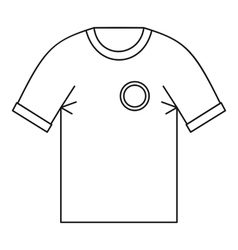 T shirt uniform team icon outline style vector image vector image