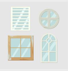 vintage old window frame antiques vector image
