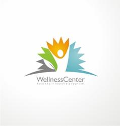 Wellness center logo design concept vector image vector image