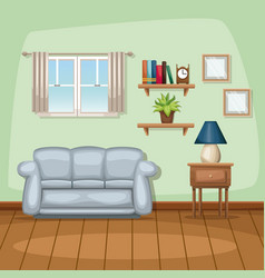 background living room home scene vector image