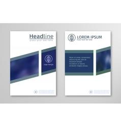 Blue annual report business brochure flyer design vector image