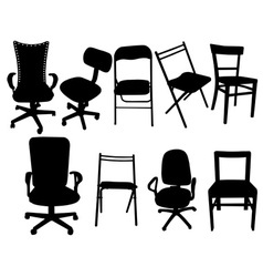 chairs vs vector image vector image