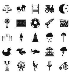 Court icons set simple style vector