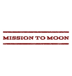 Mission to moon watermark stamp vector