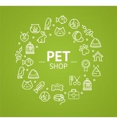 Pet Shop Concept vector image