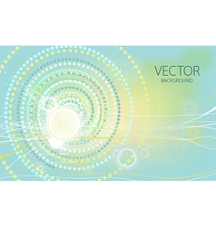 stars and circles blue background vector image vector image
