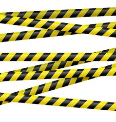 Black and yellow danger tape vector image vector image