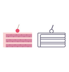 cake icons on isolated background vector image vector image
