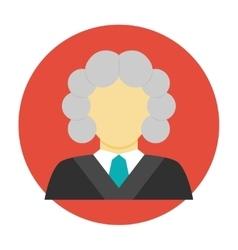 Judge avatar flat icon vector image