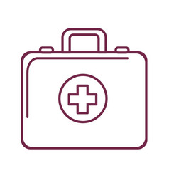 Silhouette first aid kit emergency vector